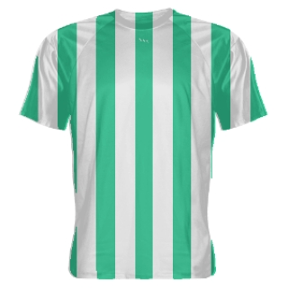 Teal and White Soccer Jerseys