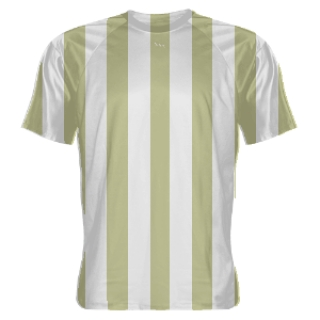 Vegas Gold and White Striped Soccer Jerseys