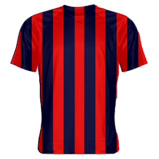 Red and Blue Soccer Jerseys