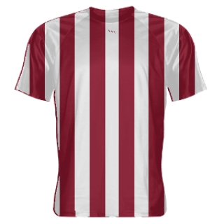 Cardinal Red and White Soccer Jerseys