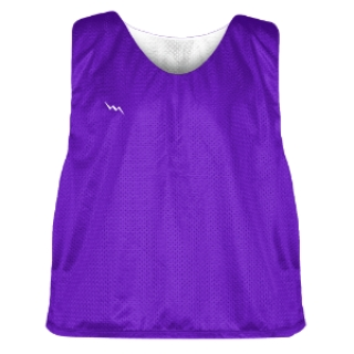 Purple and White Soccer Pinnies