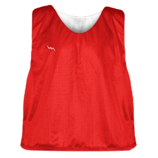 Red and White Soccer Pinnies