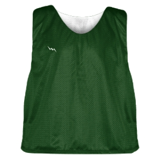 Dark Green and White Soccer Pinnies