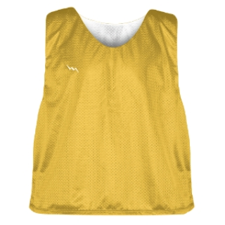 Gold and White Soccer Pinnies