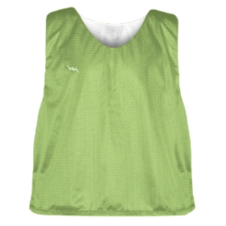 Lime Green and White Soccer Pinnies