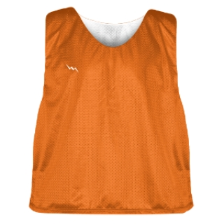 Orange and White Soccer Pinnies