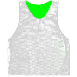 White Basketball Pinnies