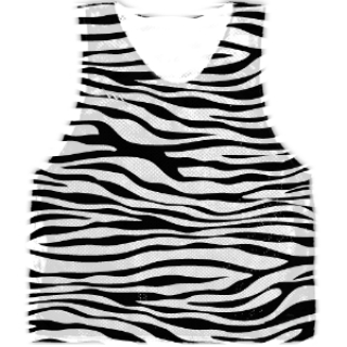 Zebra Basketball Pinnies