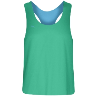 Girls Racerback Pinnie Teal