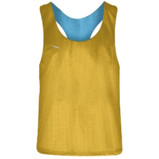 Girls Racerback Pinnie Athletic Gold