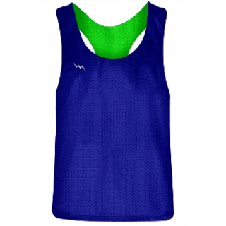 Girls Racerback Pinnie Royal Blue