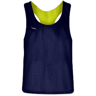 Girls Racerback Pinnie Navy Blue