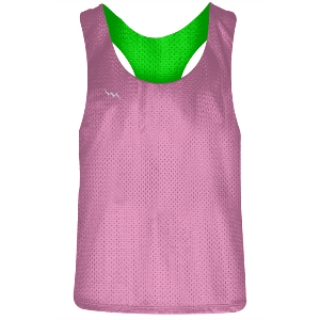 Girls Racerback Pinnie Pink