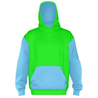Sublimated Hooded Sweatshirts Neon Green