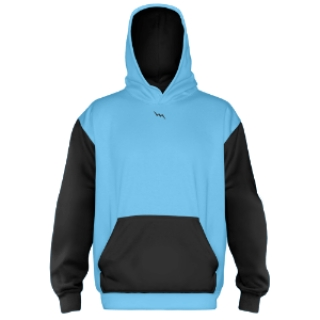 Custom Hooded Sweatshirts Powder Blue