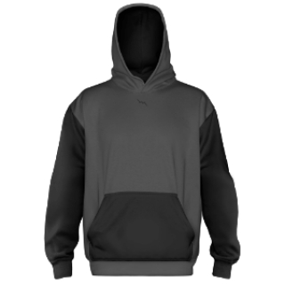 Custom Sublimated Hoodies Charcoal Grey