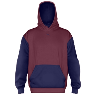 Custom Hooded Sweatshirt Maroon