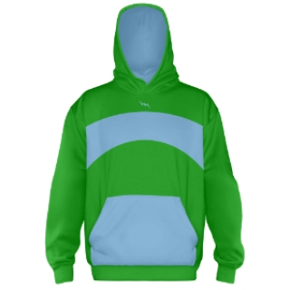 Custom Hooded Sweatshirts Kelly Green
