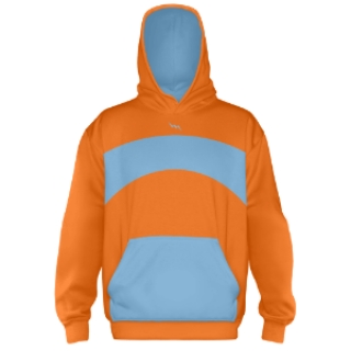 Sublimated Hooded Sweat Shirts  Orange