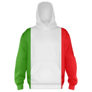 Italian Flag Hooded Sweatshirts