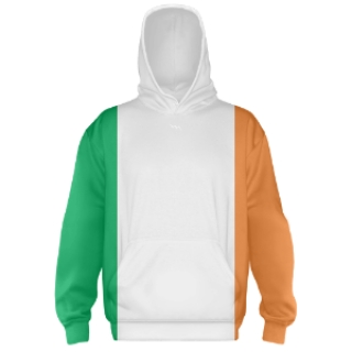 Irish Flag Hooded Sweatshirts