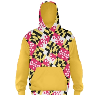 Maryland Flag hoodie Gold