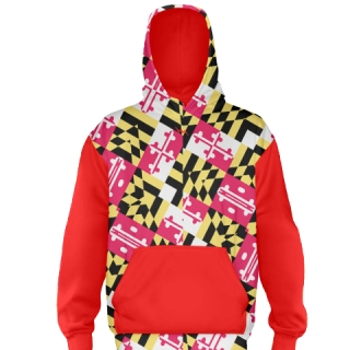 Maryland Flag Hoodie Red