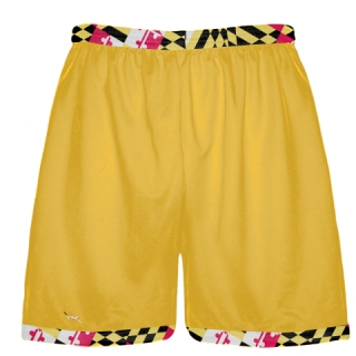 Maryland Flag Gold Shorts