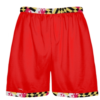 Maryland Flag Shorts Red