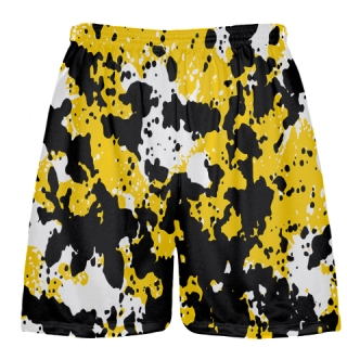 Lacrosse Shorts Paint Splatter Yellow
