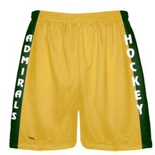 Gold Hockey Shorts