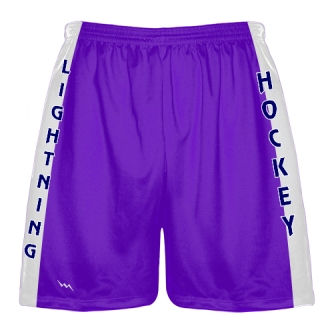 Purple Hockey Shorts