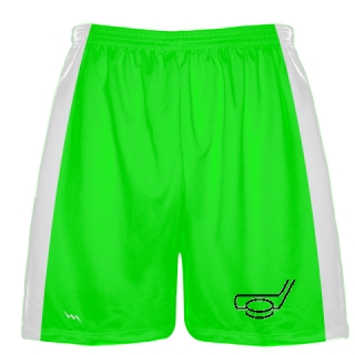 Neon Green Hockey Shorts
