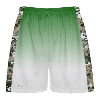Green Digital Camouflage Shorts