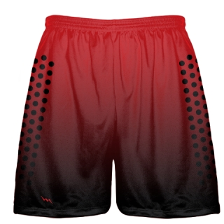 Football Practice Shorts Red and Black Fade