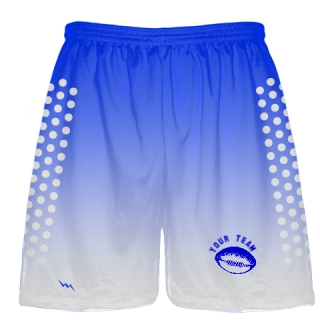 Sublimated Football Shorts Royal Blue White