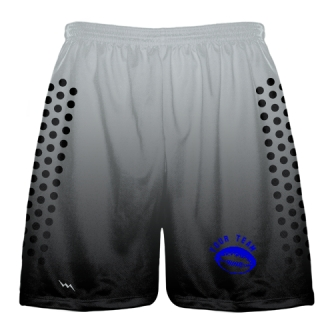 White Black Football Practice Shorts