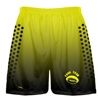 Yellow Football Practice Shorts Custom