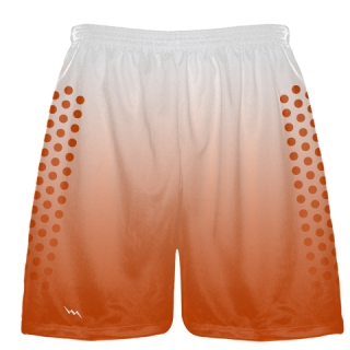 White Orange Fade Sublimated Football Shorts