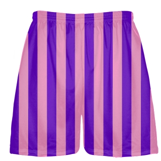 Purple Pink Stripe Shorts