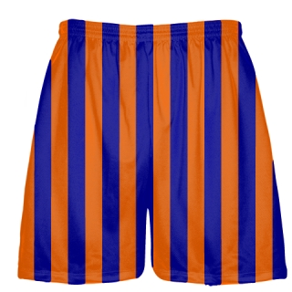 Orange and Royal Blue Stripe Lacrosse Shorts