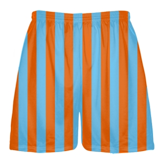 Powder Blue and Orange Shorts Lacrosse