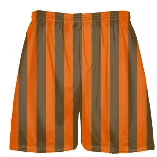 Brown and Orange Lacrosse Shorts