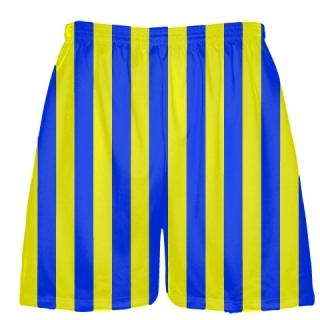 Yellow and Blue Striped Shorts