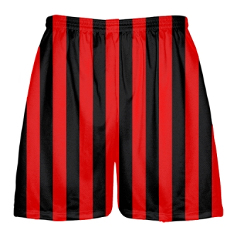 Black and Red Lacrosse Shorts