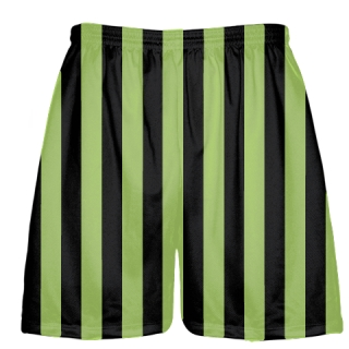 Lime Green and Black Lacrosse Shorts