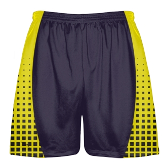 Black and Yellow Lacrosse Shorts