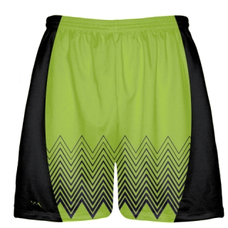 Black and Lime Green Lax Shorts