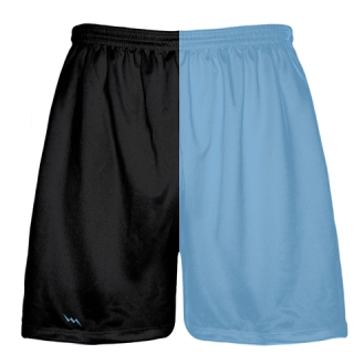 Black and Light Blue Football Practice Shorts