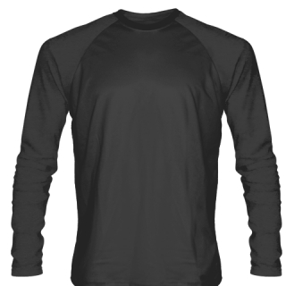 Dark Gray Long Sleeve Soccer Jerseys